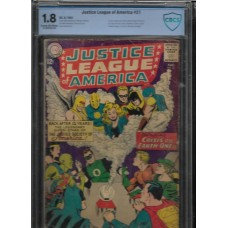 JUSTICE LEAGUE OF AMERICA 21 COMIC CBCS 1.8 - 1st SA Appearance Justice Society, Dr Fate