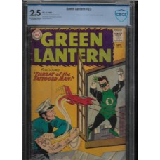 GREEN LANTERN 23 - CBCS 2.5 - 1ST APPEARANCE OF TATTOOMAN - RARE !!