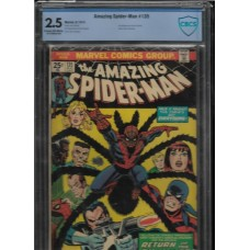 AMAZING SPIDERMAN 135 2.5 CBCS ORIGIN OF TARANTULA - RARE !!