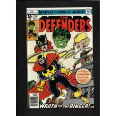 DEFENDERS COMIC 51 - WRATH OF THE RINGER- VG+