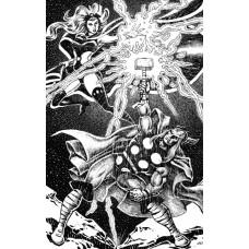 """ERNIE CHAN original art, THOR and STORM, 11""""x14"""", 2005,  - RARE !!"""