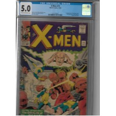 XMEN 15 CGC 5.0 COMIC BOOK 2ND SENTINELS & BEAST ORIGIN KEY - RARE !!